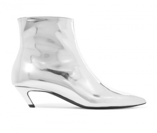 Balenciaga Talon Slash mirrored-leather ankle boots