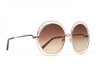 Chloe Round Gold Carlina Sunglasses