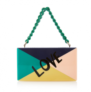Edie Parker Colour Block Love Jean Clutch