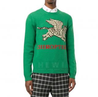 Gucci Green Chiroptera jumper