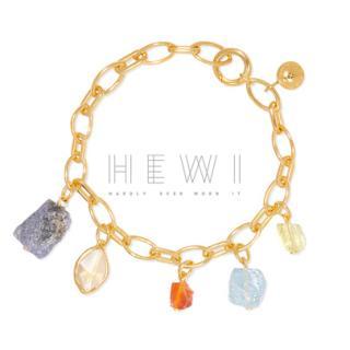 Monica Vinader x Caroline Issa gold vermeil multi-stone charm bracelet
