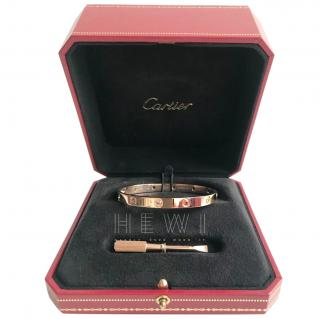 Cartier 18k Rose Gold Rainbow Love Bracelet
