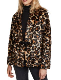 McQ by Alexander McQueen Short Leopard Coat