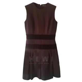 Alexander McQueen Plum Wool Panelled Dress