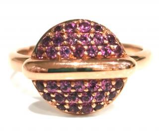 Fiorelli pave set garnet button ring