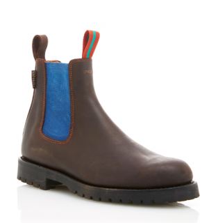 Penelope Chilvers Brown Leather Nelson Chelsea Boots