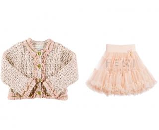 Angels Face Charm Tutu Skirt & Coco Jacket in Blush