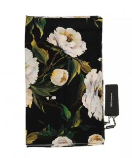 Dolce & Gabbana black and white peonies print scarf/wrap