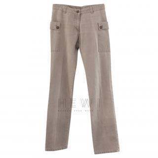 Helmut Lang vintage beige cargo pants