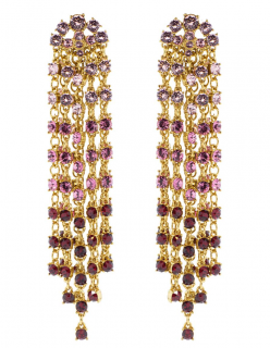 Oscar De La Renta Crystal Cascade Earrings