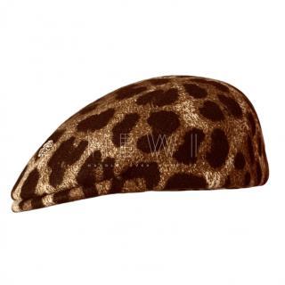 Roberto Cavalli Wool Leopard Print Hat