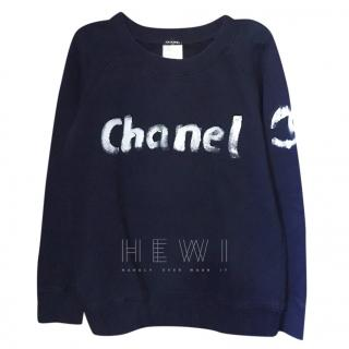 Chanel Navy Logo Sweatshirt - Christmas 2013 Special Edition