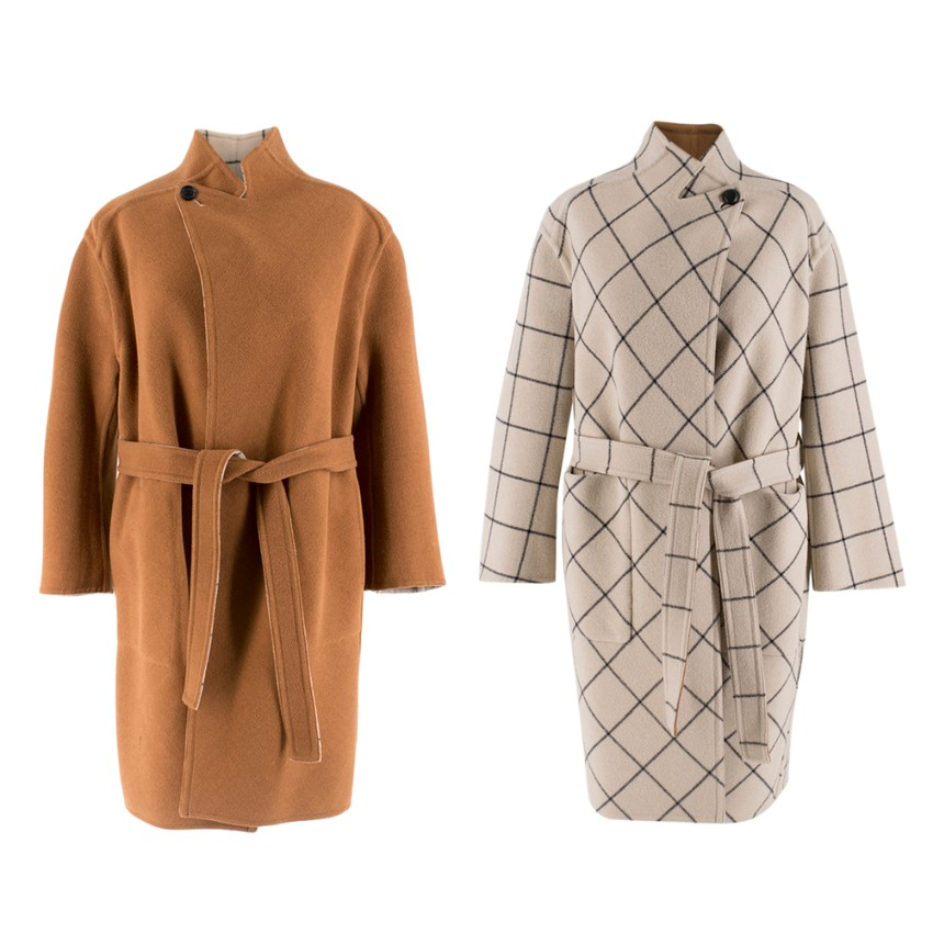 Louis Vuitton Reversible Wool Wrap Coat