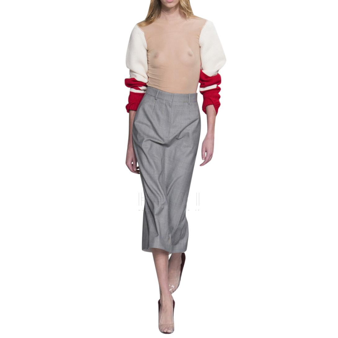 Calvin Klein 205W39NYC Plaid Wool Pencil Skirt