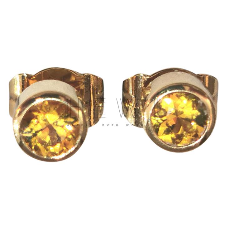 Bespoke 0.25ct Yellow Sapphire Earrings