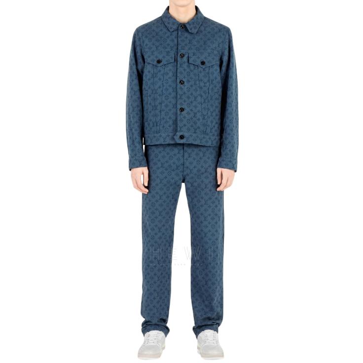 Louis Vuitton Blue Monogram Denim Jacket
