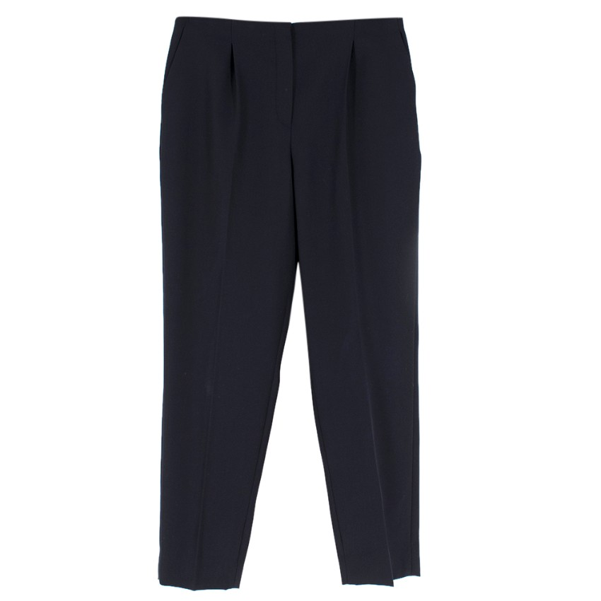 Lanvin Navy Wool Tapered Trousers