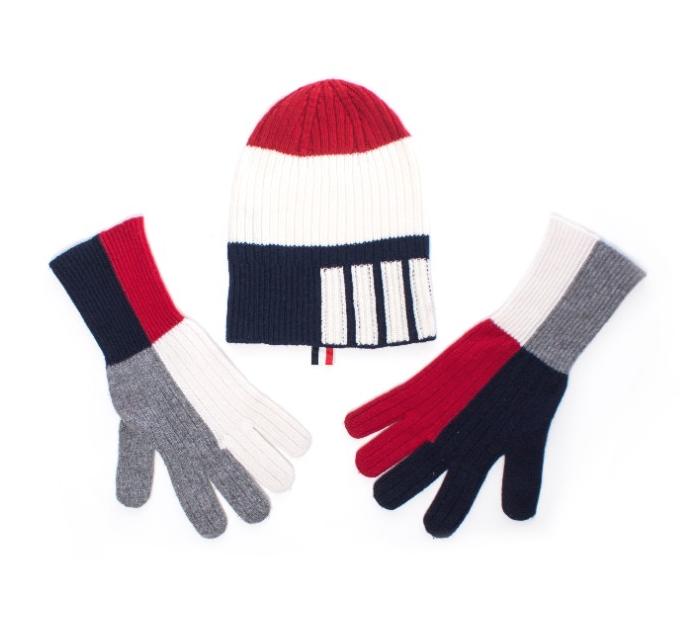 Thom Browne Cashmere Beanie & Gloves
