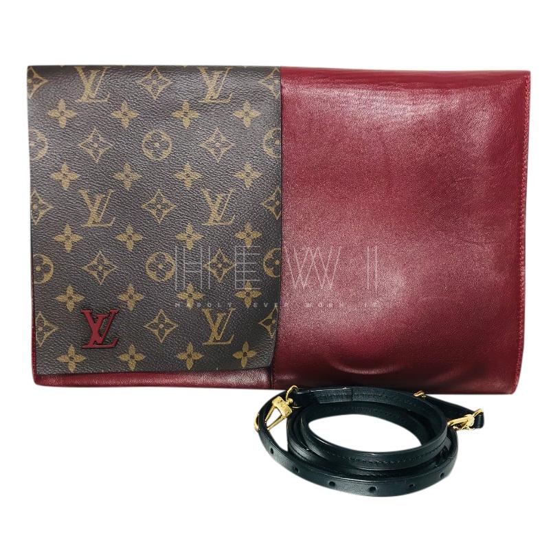 Louis Vuitton Monogram & Burgundy Shoulder bag