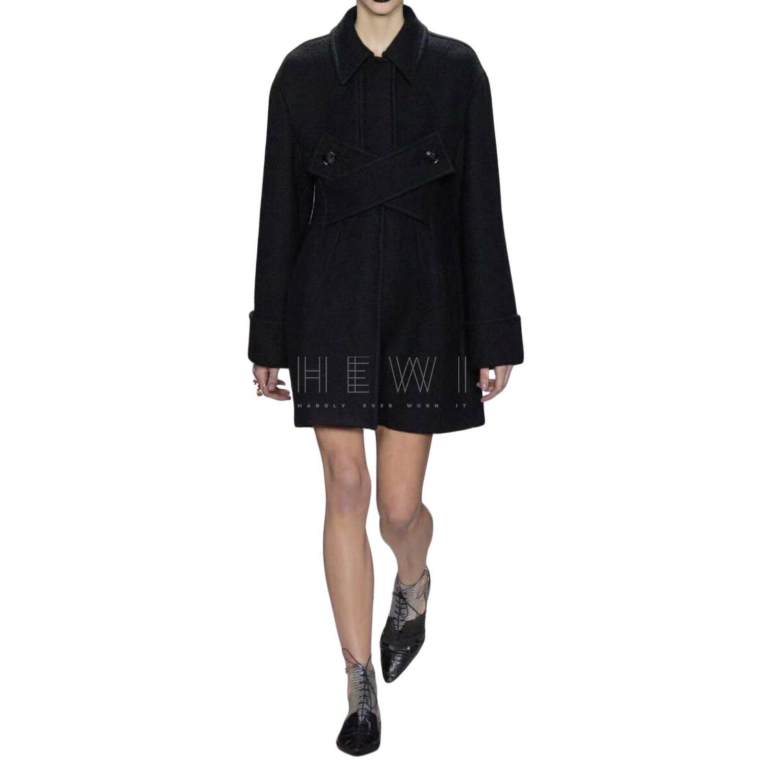 Dior Runway Black Wool Blend Coat