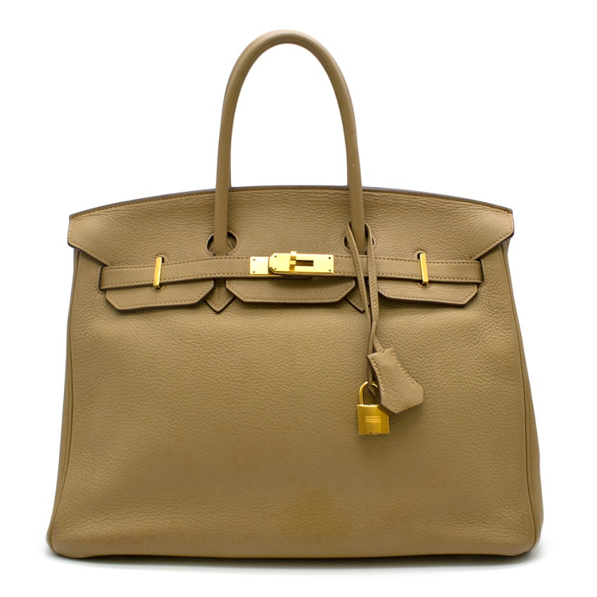 Hermes Cardamome 35cm Clemence Leather Birkin