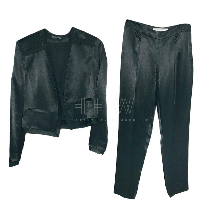 DIane Von Furstenberg Black Silk Blend Suit
