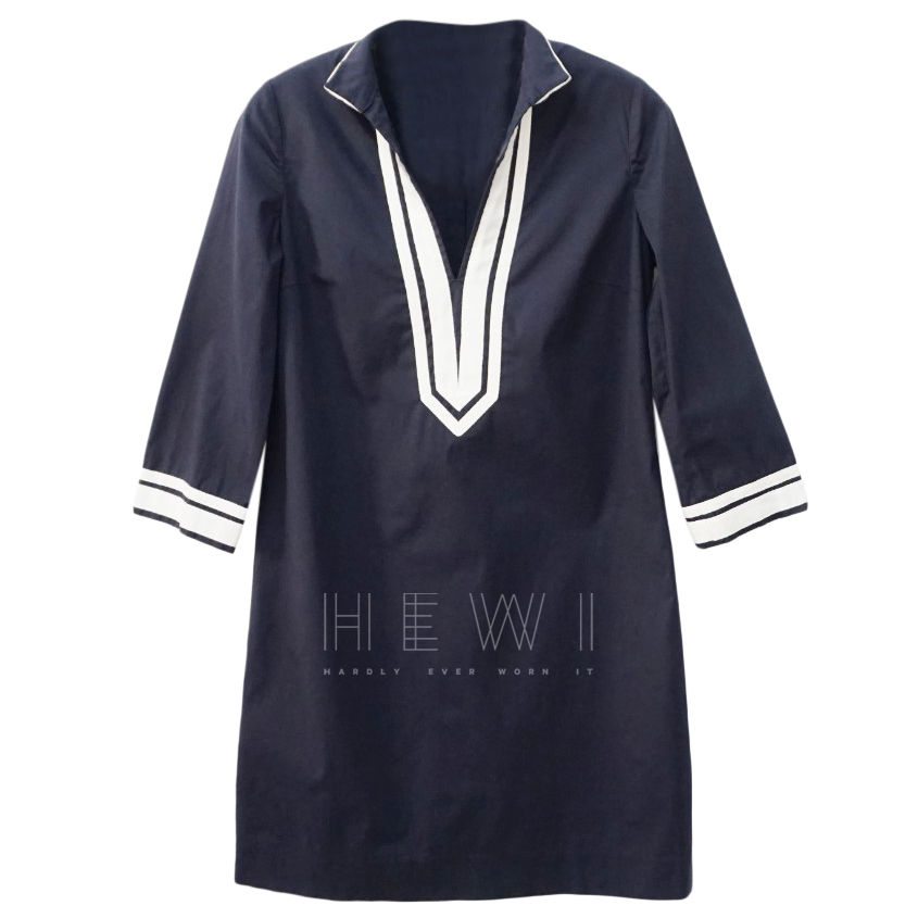 Tory Burch Navy & White Tunic Dress