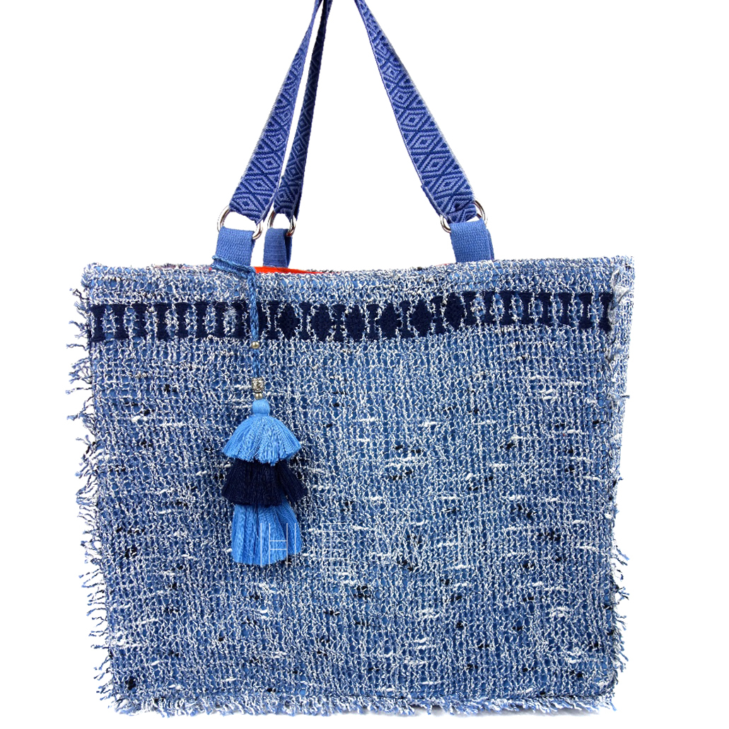 Ramy Brook Handmade Crochet Tote Bag