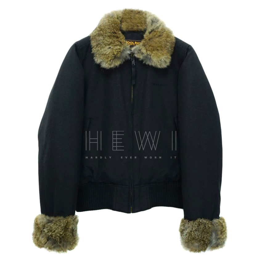 Woolrich Aspen Rabbit Fur Trim Down Jacket