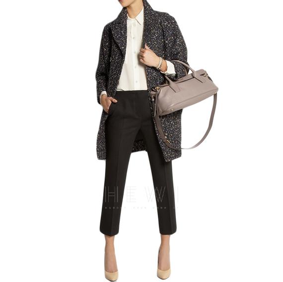 Chloe Confetti Tweed Cocoon Coat