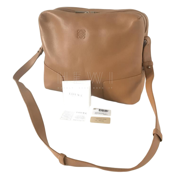 Loewe Camel Leather Madrid Bag
