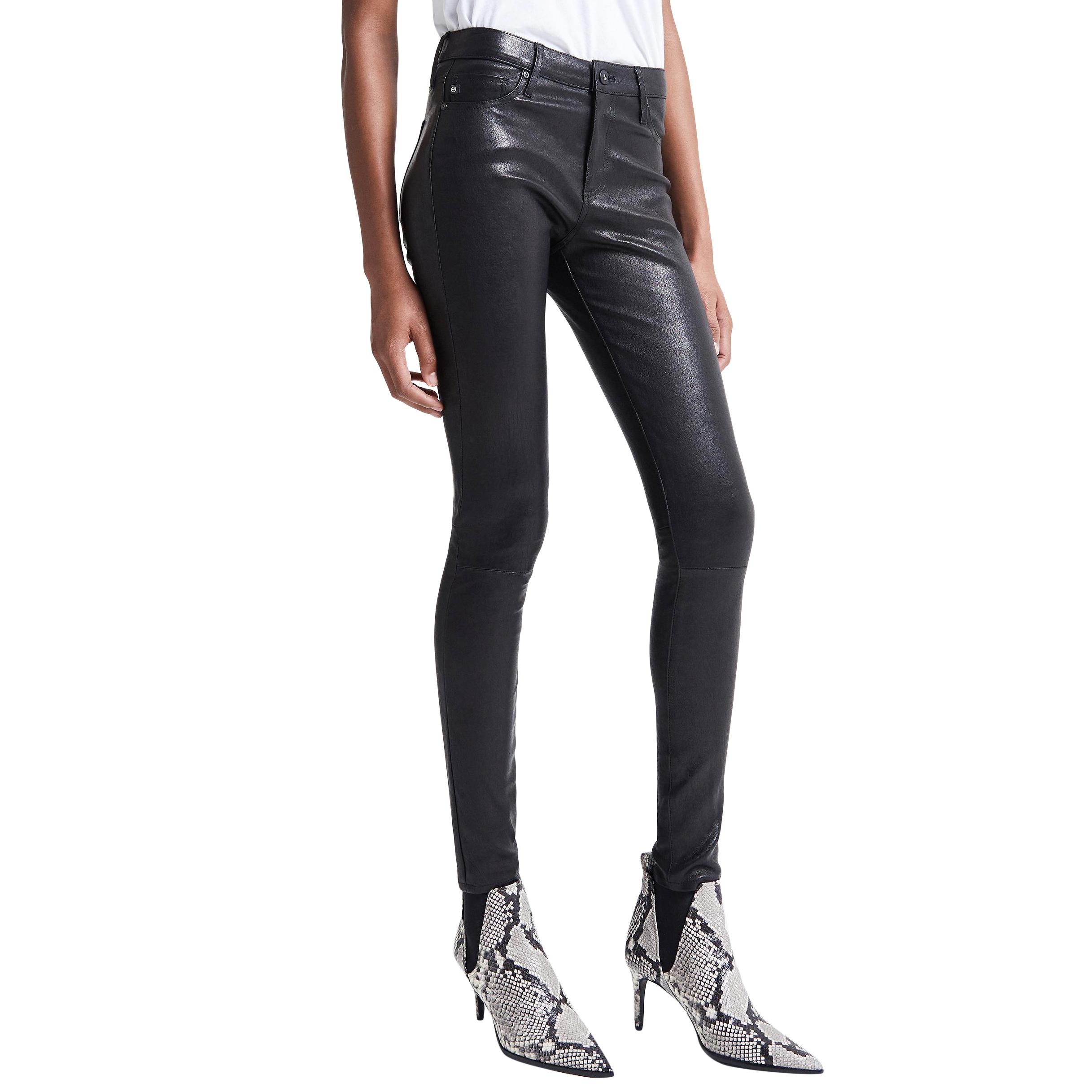AG Jeans The Leather Legging in Super Black Skinny Jeans