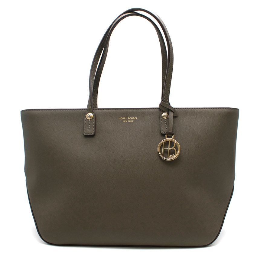 Henri Bendel Dark Green Tote Bag