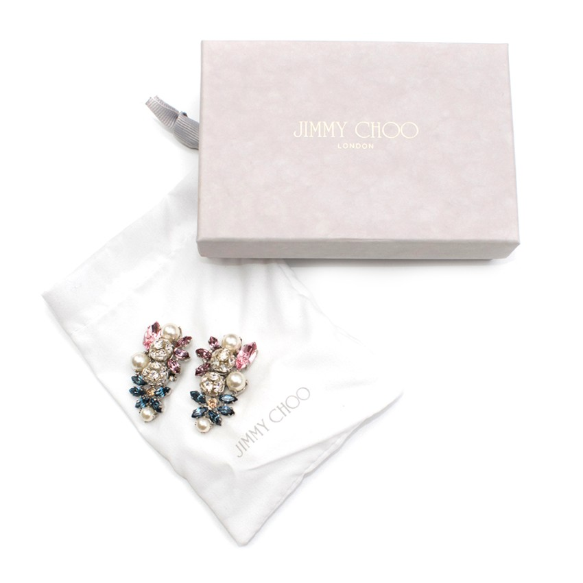 Jimmy Choo Sandy Crystal Clip-On Earrings