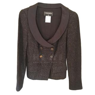 Chanel Vintage Black Tuxedo Jacket