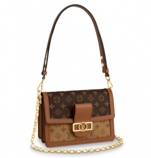 Louis Vuitton Monogram & Reverse Monogram Cruise 2019 Dauphine Bag