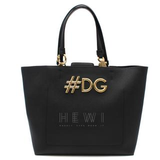 Dolce & Gabbana Black Beatrice Shopping Bag