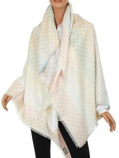 Gucci Reversible Pastel GG Jacquard Wool & Silk Blend Shawl