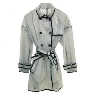 Red Valentino PVC Ribbon Trim Rain Coat