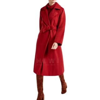 Max Mara Icon Manuela Coat in Red