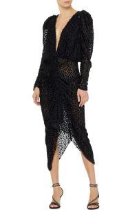 Isabel Marant Margaret Flocked Organza Mini Dress