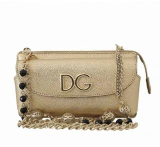 Dolce & Gabbana Gold Chain Crossbody Bag
