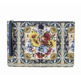 Dolce & Gabbana Majolica Print Pouch