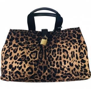 Dolce & Gabbana leopard print travel bag