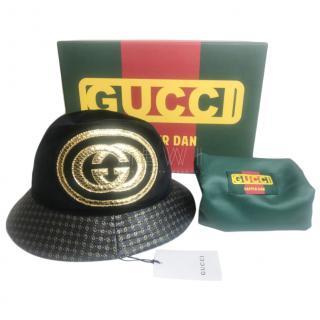 Gucci Leather & Velvet Dapper Dan Hat