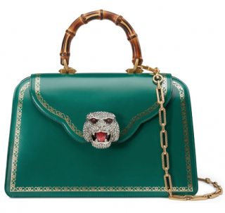 Gucci Emerald Green Thiara Bamboo Top Handle Bag