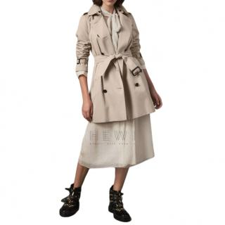 Burberry Mid-Length Garbadine Kensington Trench Coat