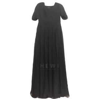 Burberry Black Silk Chiffon Gown