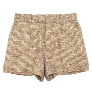 Chloe Metallic Tweed Shorts