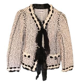 Chanel Black & White Tweed Jacket
